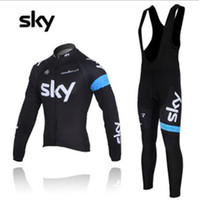 Wholesale Pro team cycling jersey Sky Pinarello cycling bib jersey long sleeve cycling jerseys high quality high elasticity bicycle clothing