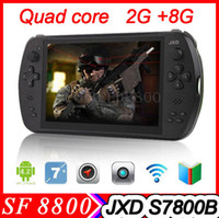 Wholesale 7 quot Game Tablet JXD S7800B RK3188T Quad Core Android Tablet PC GamePad IPS G RAM G ROM Android