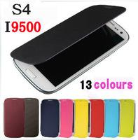 for Samsung Galaxy S4 i9500 galaxy - 100 Flip Leather PU Cases Skin With Back Battery Housing Cover Case For Samsung GALAXY S4 i9500 S4 Mini I9190 S3 I9300 S3 Mini i8190