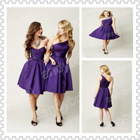 2014 Different Style Bridesmaid Dresses With Flower A- line L...