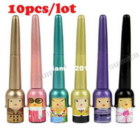 Waterproof Pencil Eyeliner 10pcs lot Luck Baby Waterproof Liquid Eye Liner Eyeliner Pen Makeup Cosmetic Black free shipping 9795