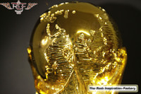 Wholesale Large World Cup Brazil Champion Football Golden Trophy Model soccer Collectible cm kg Gold plated