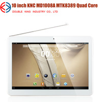 Wholesale New arrival KNC MD1008 MTK8389 Quad Core Tablet PC Inch IPS Screen Android GPS G Bluetooth Dual SIM Card Mobile Phone Dual Camera