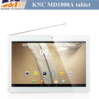 Wholesale New arrive Inch KNC MD1008A Quad Core Tablet PC MTK8389 IPS Screen Android GPS G Bluetooth Dual SIM Card Mobile Phone Dual Camera