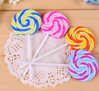 Wholesale Attractive Lollipop Eraser Sweety Candy Lollypop Bubber Sugar loaf Kids Creative Stationery Erasers Lolly Writing Cleaning Hleper D1242