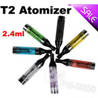 Newest Coil glass tank Atomizer Colorful T2 Clearomizer with...