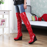 Knight Boots zipper pull - 2013 winter boots zipper pull light leather fashion boots sexy Korean jackboot white slope with Item