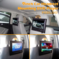 headrest Headrest DVD Player 9 Inch Black 9inch Car Headrest Mounting Car DVD Player with USB SD Slot Games #4301