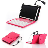leather case keyboard - Leather Case USB Silicone Keyboard for inch Tablet with Stylus OTG For inch Android Tablet