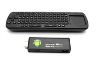 Wholesale DHL FREE New MK802 II Android Mini PC Wi Fi TV Dongle A10 Cortex A8 Wireless Fly Mouse