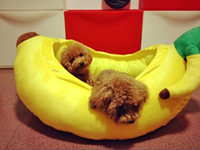 Rectangle banana peppers - Quality Bananas Nest Red Pepper Bed Fashion Pets cotton Nest Kennel Teddy Winter Dog Beds Mat Sofas sleeping bags color