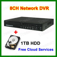 Wholesale 8CH Realtime Network H DVR Recorder With TB Hard Drive Installed Standalone Channel CCTV DVR DHL Free With Retail Box Packing