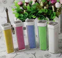 Universal Emergency Chargers  2600mAh Emergency External Battery Charger Lipstick Power Bank Charger for Galaxy i9500 i9300 Note2 N7100 iphone 5 5S 5C 4 4G Free UPS Ship