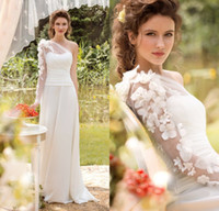 A-Line Reference Images Strapless cheap plus size wedding dress bridal gown vestido de noiva 2014 Long Sleeves Elegant Dreamy boho wedding dress Organza Tulle Custom Made hot