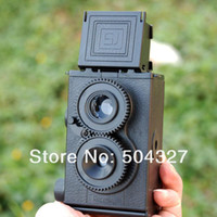 Wholesale 10pcs free fedex Set DIY LOMO Camera Science Vo1 Twin Lens Reflex Camera Kit