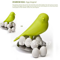 Wholesale EMS Sparrow Egg Magnets Sparrow Bird Magnetic Egg Magnet Note Keeper