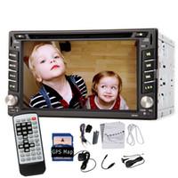 Wholesale 6 quot Double Din Car DVD Player Auto Radio Stereo GPS Nav DVB T ISDB T Digital TV Bluetooth GPS Navigation In Dash head Unit Car DVD iPod