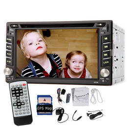 Wholesale 6 quot Double Din Car DVD Player Auto Radio Stereo GPS Nav DVB T ISDB T Digital TV Bluetooth GPS Navigation In Dash head Unit Car DVD iPod