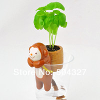 Wholesale Pieces Self Watering Tail Planters Animal Planters Cat Dog Monkey