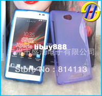 For Apple iPhone Metal Case for sony xperia c s39h C2305 s pattern tpu case cover skin