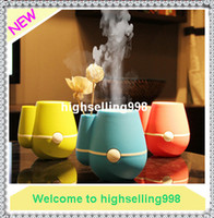 Wholesale Multi colors USB Vase Humidifier Aromatherapy Oxygen Anion Ultrasonic Atomizing Device Air Humidifier Machine