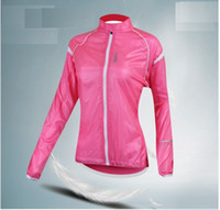 Wholesale High Quality Women Cycling Coat Wind Coat Bike Dust Coat Bicycle Pink Cycling Windbreaker Jerseys Tops Riding Clothes