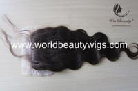 8 Lace Closure Medium Brown (silk top closure free shipping)bodywave brazilian virgin human hair silk based lace closure natural human hair