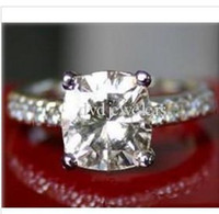 Wholesale 1 CT MOISSANITE CUSHION MICRO PAVE ENGAGEMENT RING