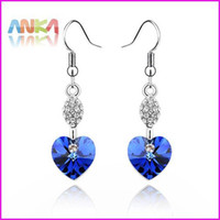 Wholesale MADE WITH SWAROVSKI ELEMENTS Crystal Drop Earrings Women Occasion Fashion Jewelry Accessories
