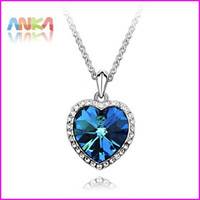 Women's heart of the ocean - 2013 Heart of the Ocean Titanic years necklace made with Swarovski Elements
