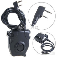 Wholesale New Design Push to Talk Headset Cable Interphone Accessory with Clip for pin Kenwood Walkie Talkie