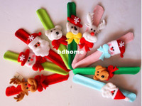Wholesale cm Christmas Eve Christmas ornaments Christmas decoration toy snowman old antlers pat circle wrist