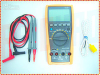 Wholesale F01729 VC97 Auto range Digital multimeter analog bar AC DC R C F Temp compared with FLUKE
