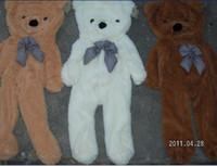 al por mayor osito de peluche con pieles-La felpa vacía juega la piel de los juguetes del oso de peluche Peluche 3 colores