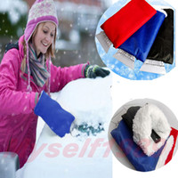 Wholesale Fleece Glove Auto Car Snow Ice Shovel Scraper Removal Clean Tool Vehicle Remove Tool Windshield Ice Scraper Outdoor Emergenc