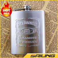 Wholesale Thickening oz Stainless Steel Pocket Flask Russian Hip Flask Male Small Portable Mini Shot Bottles Wine flask Liquor flask