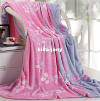 Wholesale Polyester Printed Coral Fleece blanket bedding Super Soft Baby Blanket cm High Quality TV Blanket