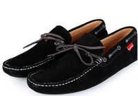 Wholesale 3 Colors Eagle Mens Suede Leather Loafer Shoes Men Boat Shoes Flat With Casual Comfort Sneaker Slip on Size
