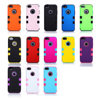 Wholesale AAAAA Quality Mobile Phone Back Cases For iPhone C iphone5C Waterproof Bumper Case Protector Hybrid Silicone Skin And Plastic Shell in