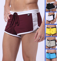 Men Boxers & Boy Shorts Sexy 6PCS Free Shipping Sexy Mens Sports Running Shorts Boxers Briefs Underwear Boxer Brief Trunks GYM Casual Jogger Low Rise Enhance Pouch S M L