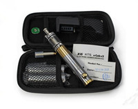 Wholesale Electronic Cigarette E cigarette Upgraded X6 KTS Kits X8 Atomizer Ego kit mech mod E cig Stainless steel Unique Design With Zipper Case
