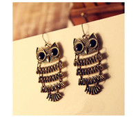 Wholesale Owl Charm Dangle Chandelier Earrings Promotion Bohemian Retro Vintage Pendant Earring Jewelry For Women Girls New Hot