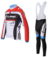 Wholesale 2012 Cube winter cycling jersey cycling bib pants suit bicycle clothing cube winter cycling clothing cycling winter jersey