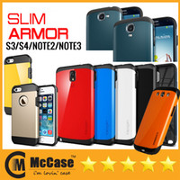 Wholesale Promotion SPIGEN SGP Slim Armor Tough Armor Hard Cover Case Cases For iPhone S S C Galaxy Note Note S3 S4 DHL