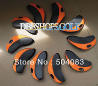 Wholesale NEW No word irons golf HeadCover set Can arbitrarily choose a color golf Club Cover EMS