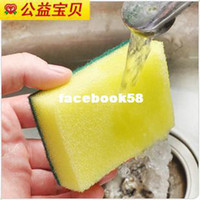 Wholesale Baby wipe cloth cleaning sponge wash cloth double faced material single loaded