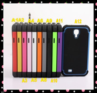 Wholesale 28PCS TPU PC camos oTterings box case for Samsung Galaxy S4 with Retail Box and Clip