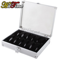 Wholesale New Jewelry Grid Slots Watch Display Storage Box Case Aluminium Square
