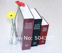 Wholesale EMS Pieces Medium Disguised Dictionary Secret Book Safe with Hidden Key Lock