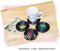 Wholesale Pieces Record Coasters Record Cup Mat for Music Lover
